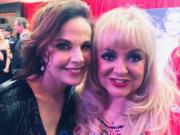 Melanie Parry with Sigrid Thornton