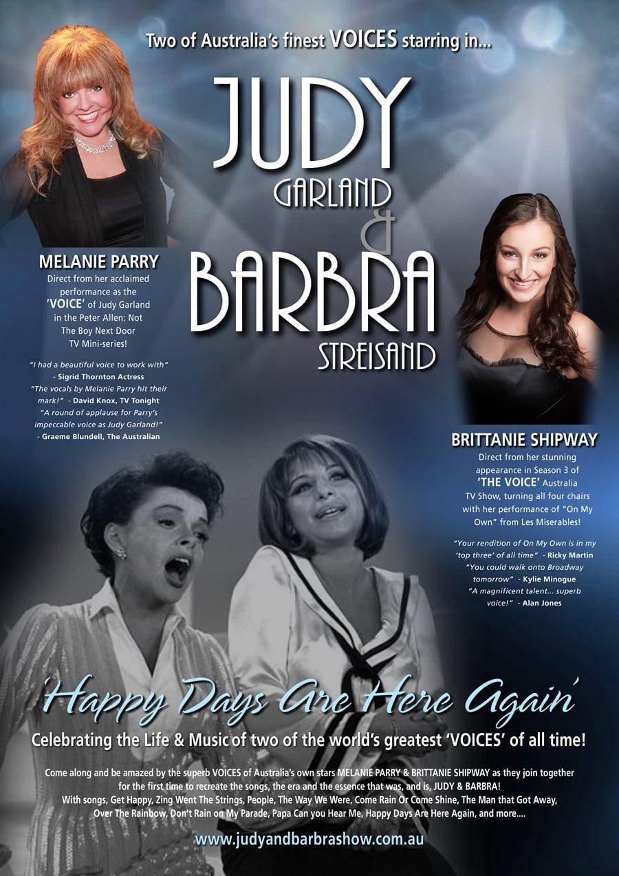 Judy & Barbra Show Poster