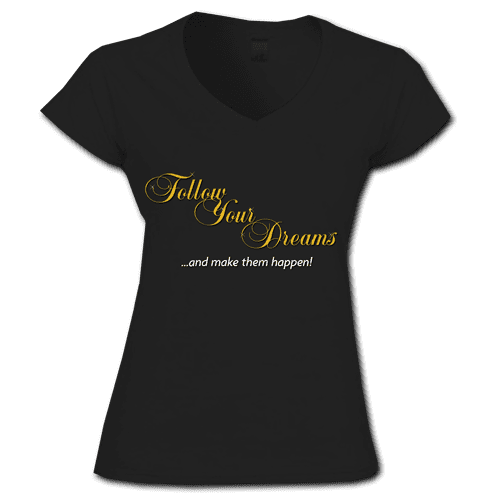 TShirt Follow Your Dreams Black