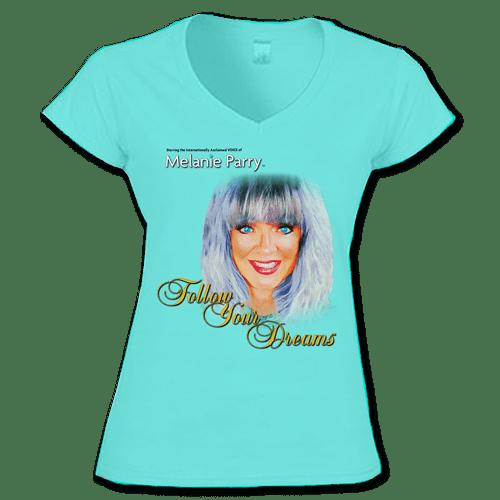 TShirt Follow Your Dreams Womens Aqua